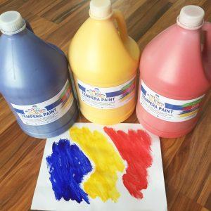 Nontoxic tempera paints