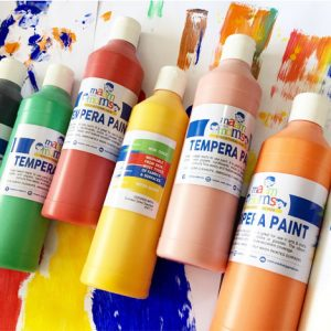 500ml Non-Toxic and Washable Tempera Paints