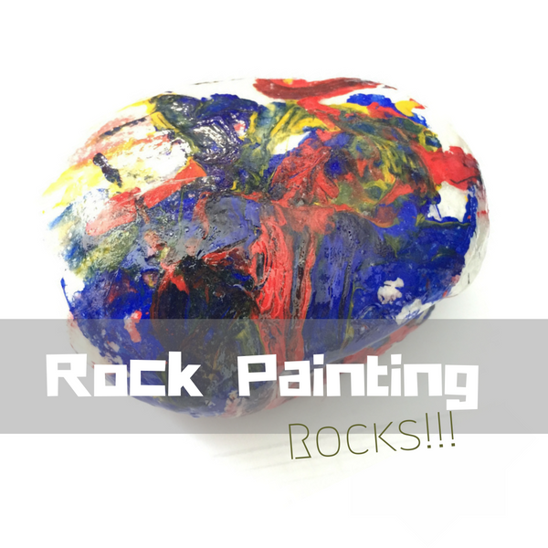 Tempera paint on rock