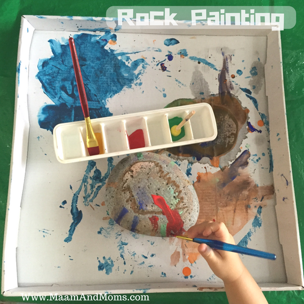 Our 2nd rock painting activity using a smoother rock.