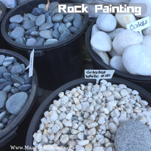 Toddler Rock painting