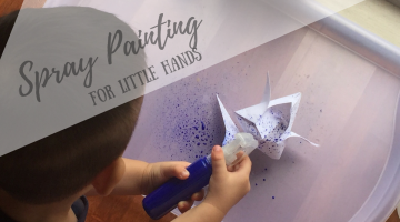 Spray Painting for Little Hands