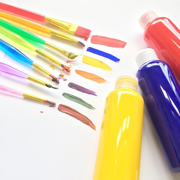 Artist's Paint and Brush
