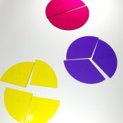 Acrylic fraction pie