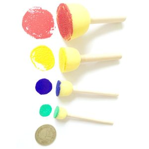 Round Tip Foam Brush Set