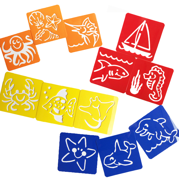 underwater stencils 12-pc set